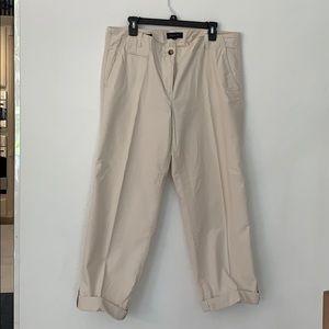 Khaki boyfriend Talbots pants!
